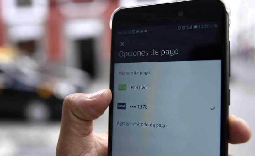 metodos pago uber